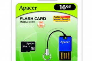 Apacer анонсировала комплект «кардридер плюс карта памяти»