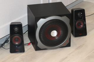 Обзор мощной акустической системы TRUST GXT 38 2.1 Subwoofer Speaker Set