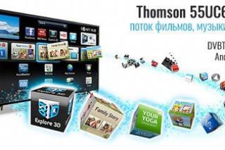 "Новый Smart телевизор Thomson 55UC6406  55"""