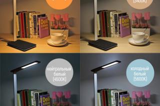 Настольная LED лампа ColorWay с беспроводной зарядкой и USB