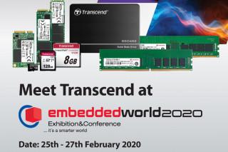 Transcend продемонстрирует свои встроенные решения на выставке Embedded World 2020