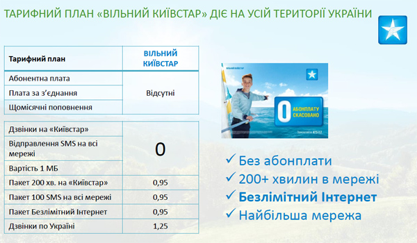 Новый тариф «Свободный Киевстар»: оптом, но без абонплаты